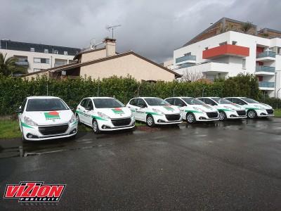 Marquage adhésifs voiture pour la société Chausson