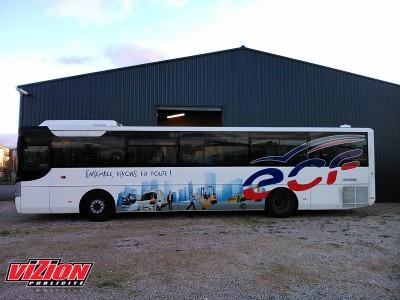 Marquage adhésifs bus ECF