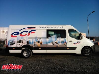 Marquage adhésifs camion ECF