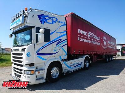 Marquage adhésifs camion FCP